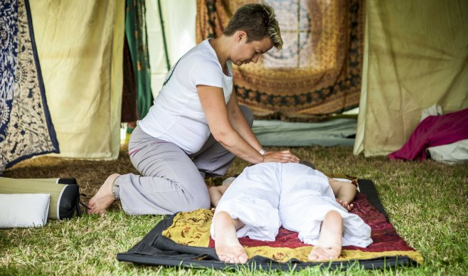 Massage, healing, ontspanning, yogaweekend, yogavakantie